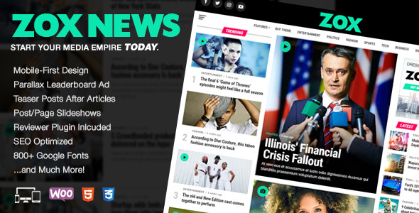 Zox News Theme v3.11.2 Nulled