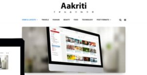 WP OnlineSupport Aakriti Personal Blog Pro Nulled v.1.0.0