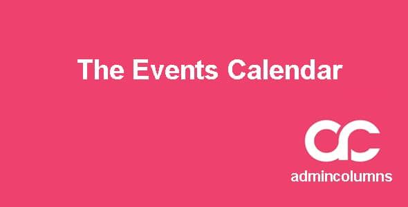 Admin Columns Pro The Events Calendar