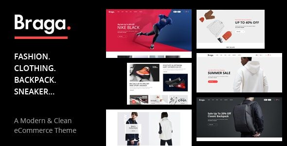 Braga Fashion Theme for WooCommerce WordPress