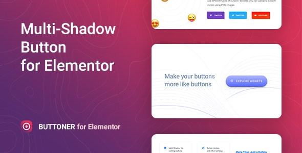 Buttoner – Multi shadow Button for Elementor