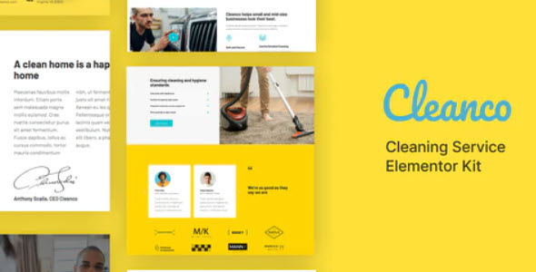 Cleanco Cleaning Service Company Template Kit Nulled v.1.0.0