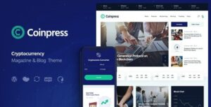 Coinpress | ICO Cryptocurrency Magazine & Blog Theme Nulled v.1.0.2