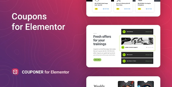 Couponer Discount Coupons for Elementor Nulled v.1.0.1