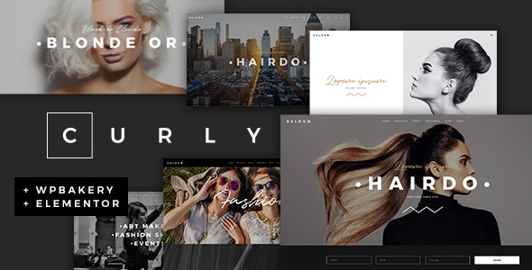 Curly A Stylish Theme for Hairdressers and Hair Salons