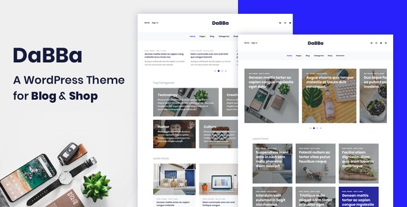 Dabba A WordPress Theme For Blog & Shop Nulled v.1.0.7