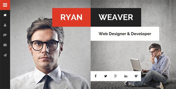 Divergent Personal Vcard Resume Theme Nulled v.3.0.0