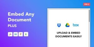 Embed Any Document Plus WordPress Plugin Nulled v.2.6.0