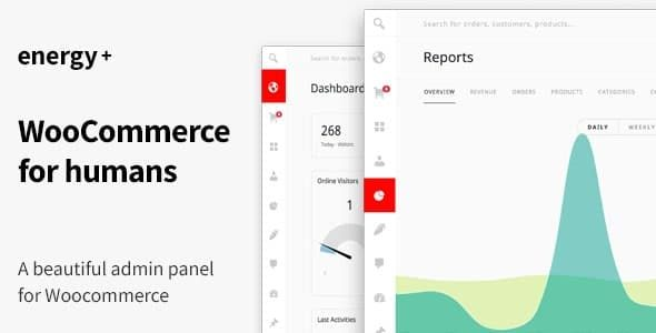Energy A beautiful admin panel for WooCommerce