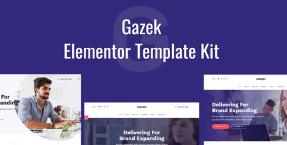 Gazek Agency Portfolio Elementor Template Kit