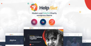 Helpnest Charity Elementor Template Kit Nulled v.1.0.0