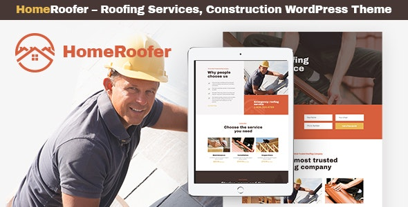 Home Roofer Roofing Company Services & Construction WordPress Theme