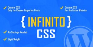INFINITO Custom CSS for Chosen Pages and Posts Nulled v.1.2