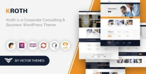 Kroth Business/Consulting WordPress Theme Nulled v.1.9.2