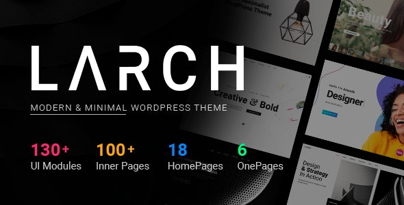 Larch Responsive Minimal Multipurpose WordPress Theme
