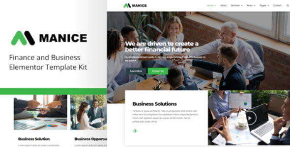 Manice Business Template Kit Nulled v.1.0.0
