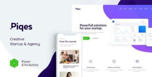Piqes | Creative Startup & Agency WordPress Theme Nulled v.1.0.2