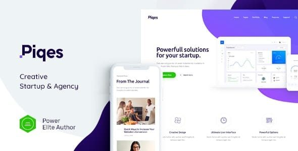 Piqes – Creative Startup & Agency WordPress Theme Nulled v.1.0.3