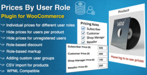 Prices By User Role for WooCommerce Nulled v.5.0.2