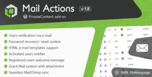 PrivateContent Mail Actions Nulled v.1.801