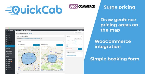 QuickCab WooCommerce Taxi Booking Plugin