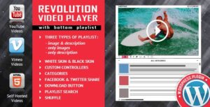 Revolution Video Player With Bottom Playlist Nulled v.2.4