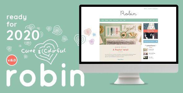 Robin Cute & Colorful Blog Theme