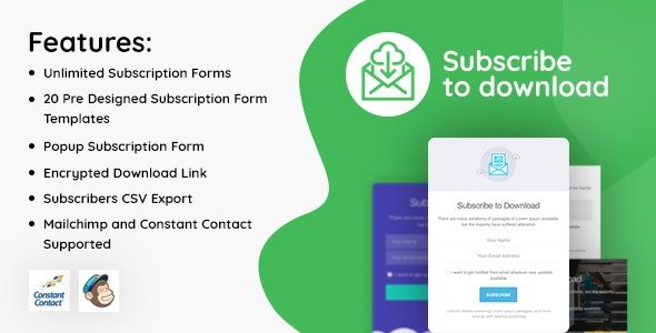 Subscribe to Download An advanced subscription plugin for WordPress