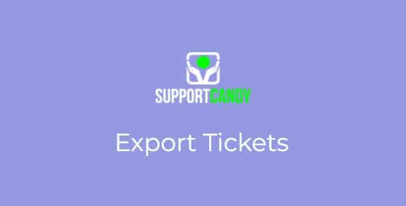 SupportCandy Export Ticket Nulled v.2.1.0