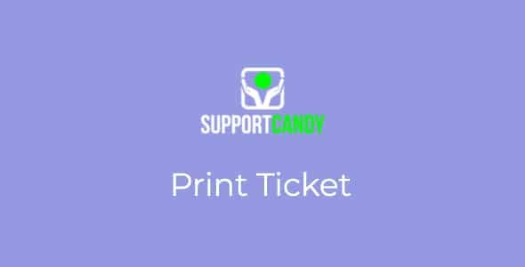 SupportCandy Print Tickets Nulled v.1.0.6