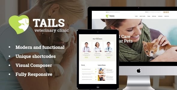 Tails Nulled v1.4.2 Veterinary Clinic, Pet Care & Animal WordPress Theme + Shop