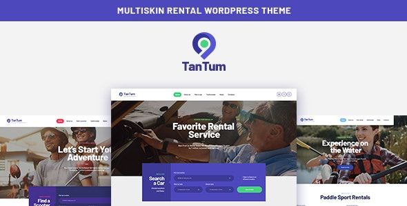 TanTum – Car, Scooter, Boat & Bike Rental Services Theme Nulled v.1.1.2