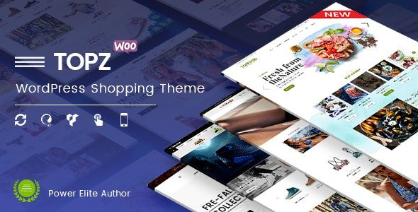 TopZ Top Food Store & Sport Fashion Shop WordPress WooCommerce Theme Nulled v.1.4.11