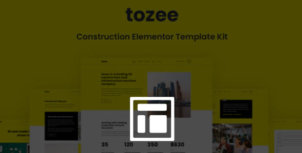Tozee Construction Elementor Template Kit