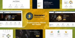 Tradent Cryptocurrency, Bitcoin WordPress Theme Nulled v.1.8