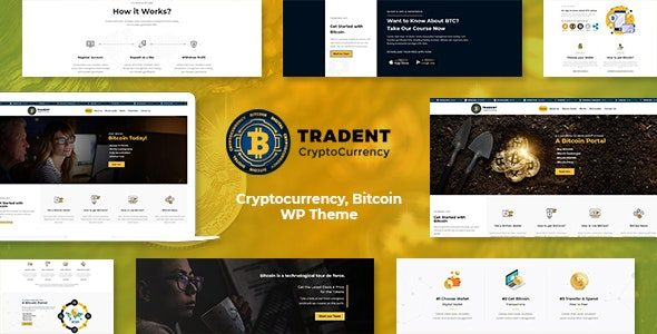 Tradent Cryptocurrency, Bitcoin WordPress Theme