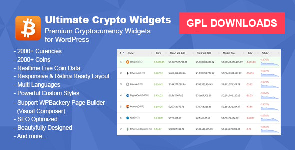 Ultimate Crypto Widgets Nulled v.1.4.3