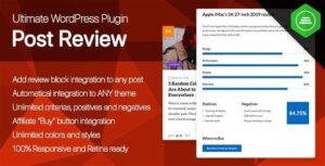 Ultimate Post Review WordPress Rating/Reviews Nulled v.1.0
