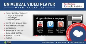 Visual Composer Addon Universal Video Player for WPBakery Page Builder Nulled v.1.8.7