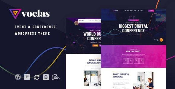 Voelas Event & Conference WordPress Theme Nulled v.1.1.1