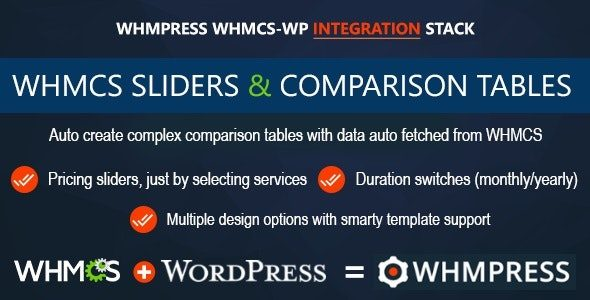 WHMCS Pricing Sliders and Comparison Tables WHMpress Addon