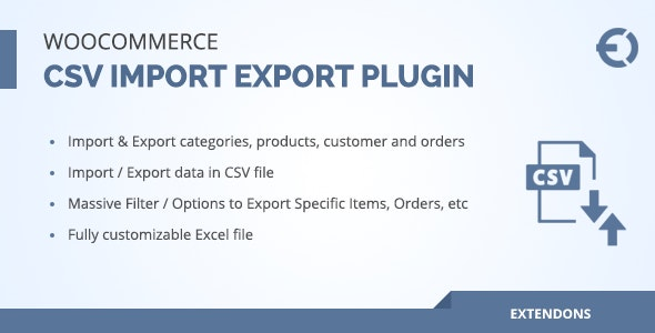 Woocommerce csv import export plugin