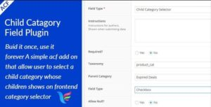 ACF Child Category Field Nulled v.1.0.0
