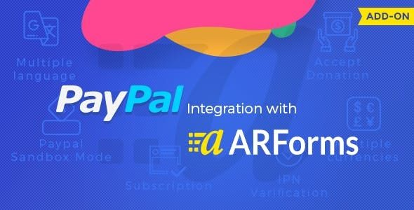 ARForms – PayPal Addon