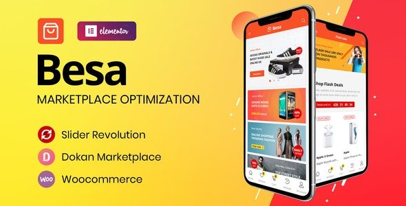 Besa Elementor Marketplace WooCommerce Theme