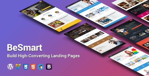 BeSmart High Converting Landing Page WordPress Theme
