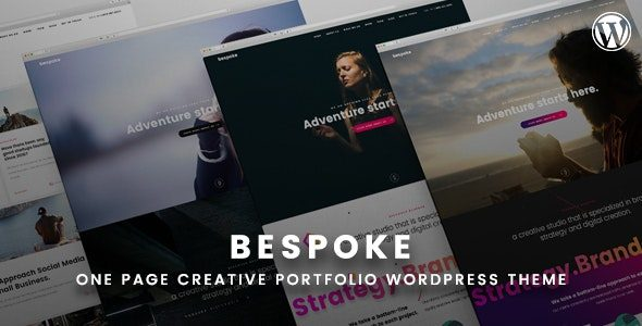 Bespoke Onepage Creative WordPress Theme