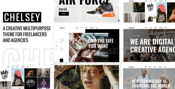 Chelsey Portfolio Theme for Freelancers and Agencies Nulled v.1.0