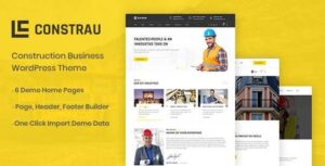 Constrau Construction Business WordPress Theme v1.1.6 Nulled
