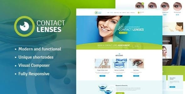 Contact Lenses Store & Vision Therapy Clinic Doctor WordPress Theme